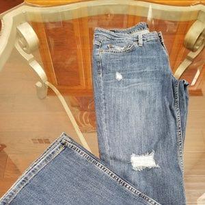 LEVI'S LOW-WAIST WIDE LEG BLUE JEAN